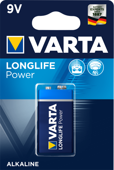 Alkaline 9V batteri -  Longlife Power batteri - 9V