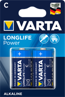 Alkaline batterier C Longlife Power  - 2 stk. type C batterier